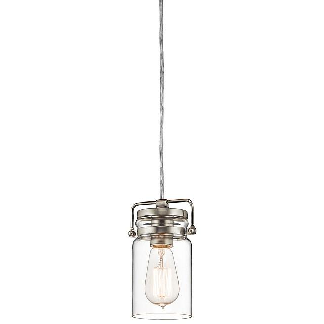 Brinley 1 Light Mini Pendant - Brushed Nickel