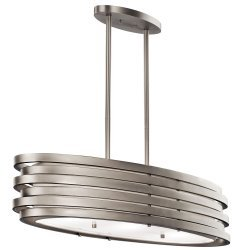 Roswell  3 Light Oval Island Pendant