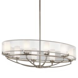Saldana 8 Light Oval Chandelier