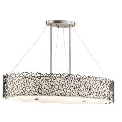 Silver Coral 4 Light Oval Island Light