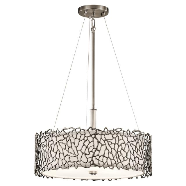 Silver Coral 3 Light Duo-Mount Pendant