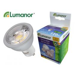Lumanor LED 6W COB Dimmable GU10 Warm White