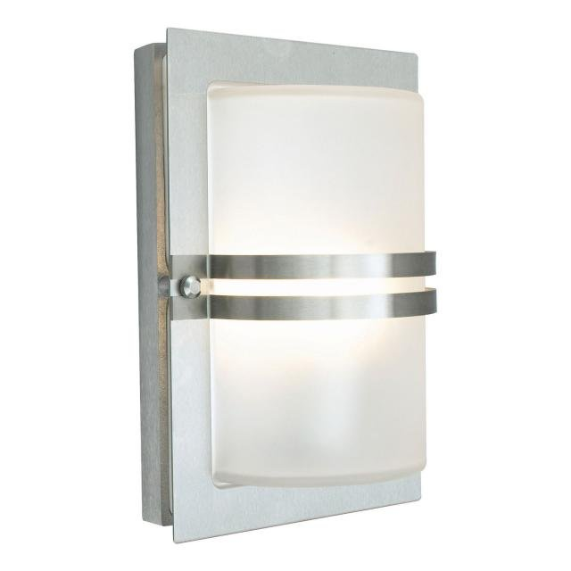 Basel 1 Light Wall Lantern - Stainless Steel With Frosted Glass