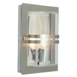 Basel 1 Light Wall Lantern - Stainless Steel With Clear Glass