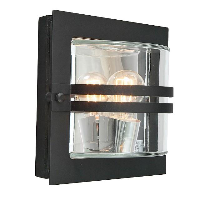 Bern 1 Light Wall Lantern - Black With Clear Glass