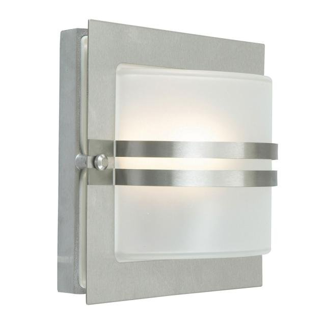 Bern 1 Light Wall Lantern - Stainless Steel With Clear Glass