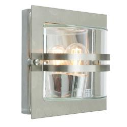 Bern 1 Light Wall Lantern - Stainless Steel With Frosted Glass