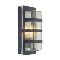 Boden 1 Light Wall Light - Black With Clear Glass