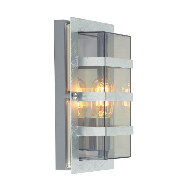 Boden 1 Light Wall Light - Galvanised With Clear Glass