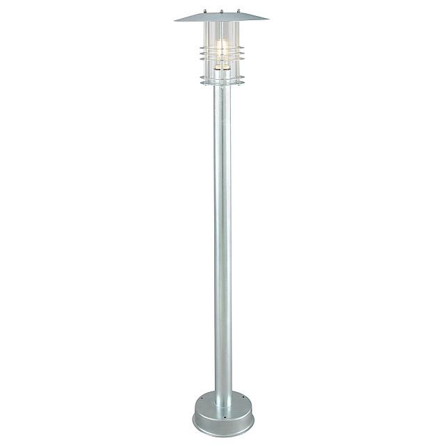 Stockholm 1 Light Pillar - Galvanised
