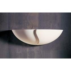 Half Bowl With 3D Pattern Plaster Wall Light