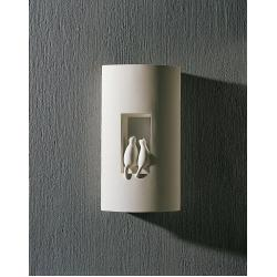 Two Cats Plaster Wall Light
