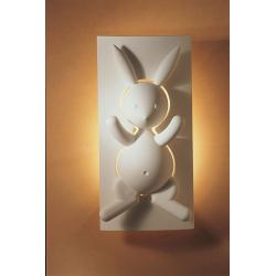 Lapin Bunny Plaster Wall Light