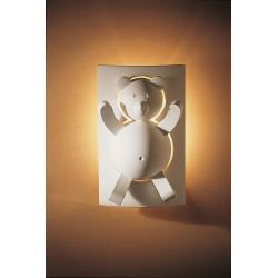 Teddy Bear With Light Behind Plaster Wall Light