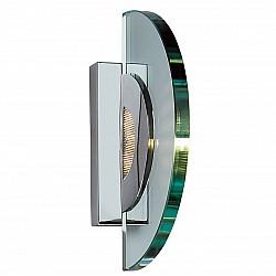 Glass and Metal Wall Light
