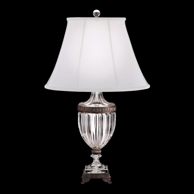 Bagatelle Table Lamps in Heirloom Bronze and Shade White Wilkshire