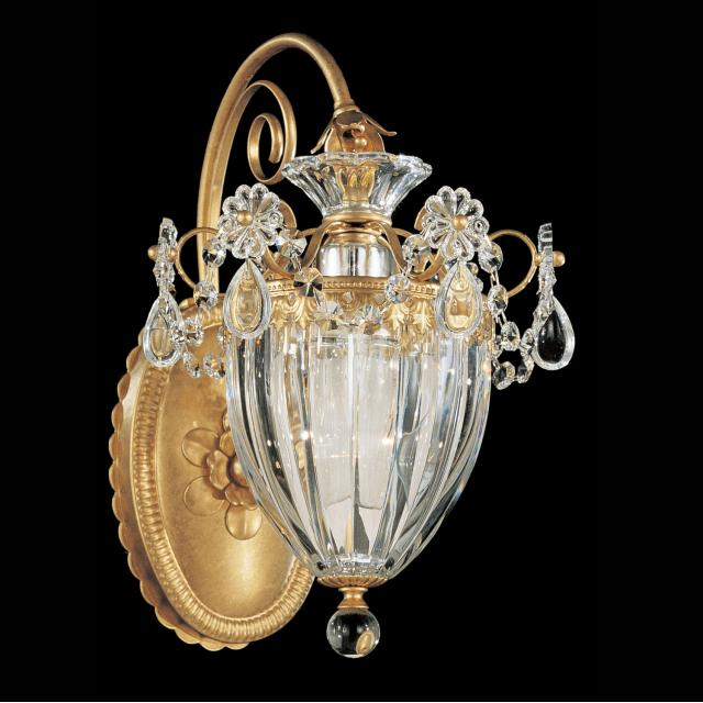 Bagatelle 1 Light Wall Sconce in Heirloom Gold with Clear Spectra Crystal