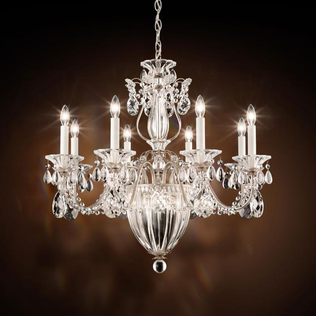 Bagatelle 11 Light Chandelier in Antique Silver with Clear Heritage Crystal