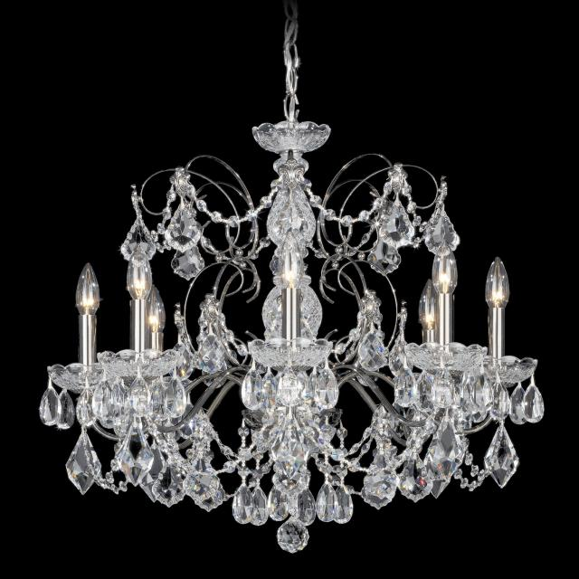 Century 8 Light Chandelier with Clear Heritage Crystal