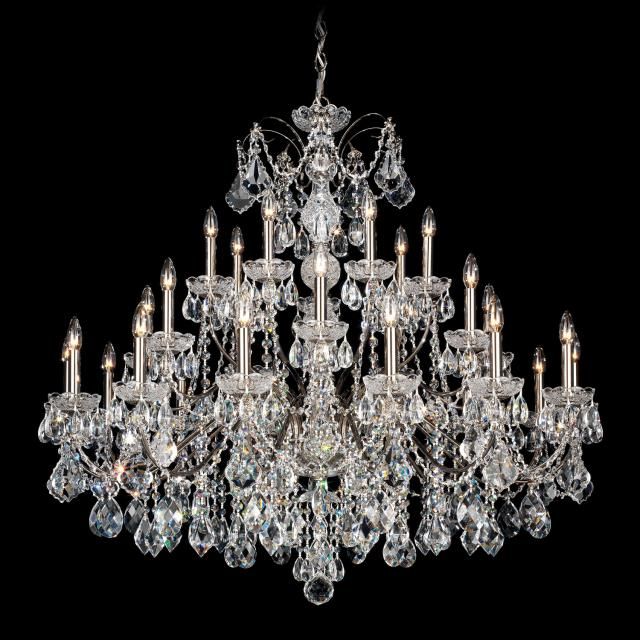 Century 28 Light Chandelier with Clear Heritage Crystal