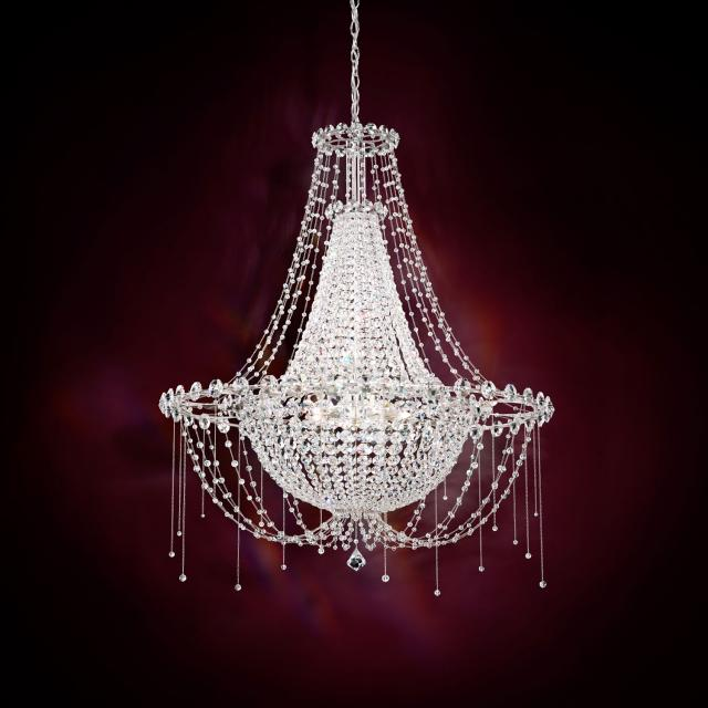Chrysalita 8 Light Chandelier in Stainless Steel with Crystal Spectra Crystal