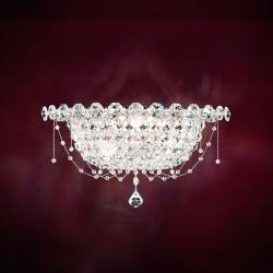 Chrysalita 2 Light Wall Sconce in Stainless Steel with Crystal Spectra Crystal