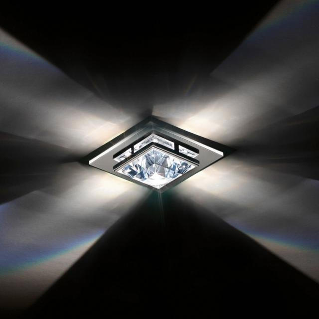 Madison Recessed Small Close to Ceiling in Chrome with Clear Crystals From Swarovski
