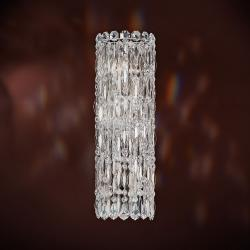 Sarella 4 Light Wall Sconce in Stainless Steel with Crystal Crystals From Swarovski