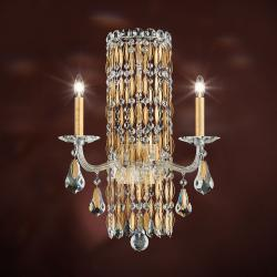 Sarella 2 Light Wall Sconce in Heirloom Gold with Crystal Crystals From Swarovski
