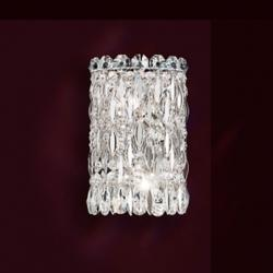 Sarella 2 Light Wall Sconce in Stainless Steel with Crystal Spectra Crystal