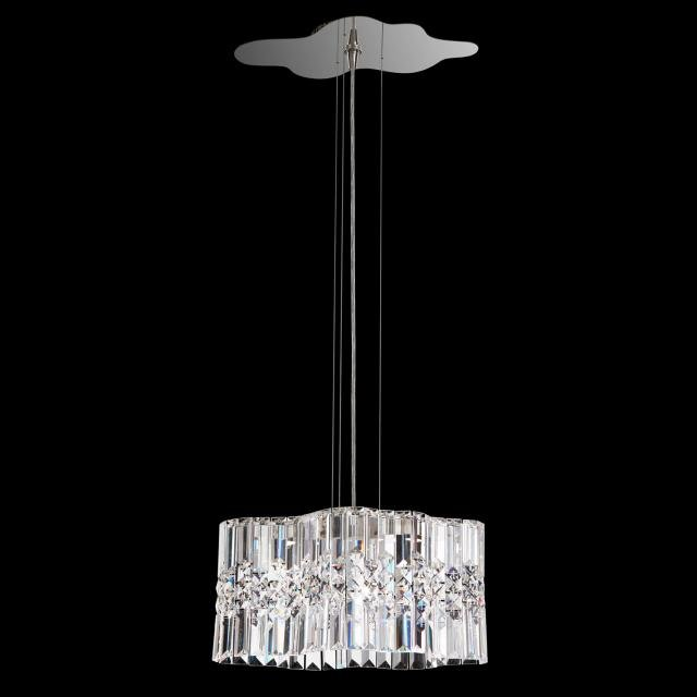 Selene LED Chandelier in Stainless Steel with Clear Spectra Crystal