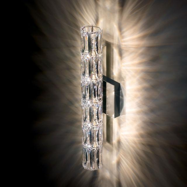 Verve 5 Light Wall Sconce in Stainless Steel with Clear Crystals From Swarovski
