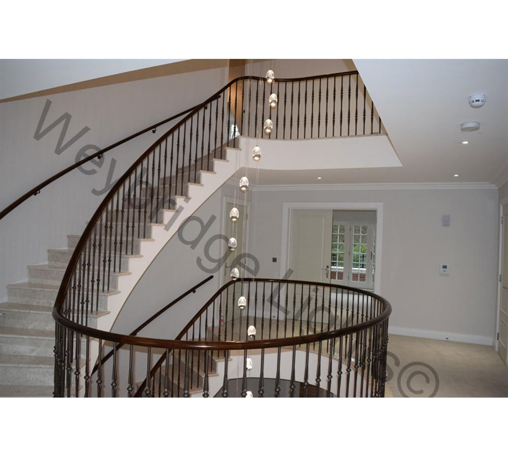 Contemporary Stairwell & living room lights - Ascot, Berkshire 2016