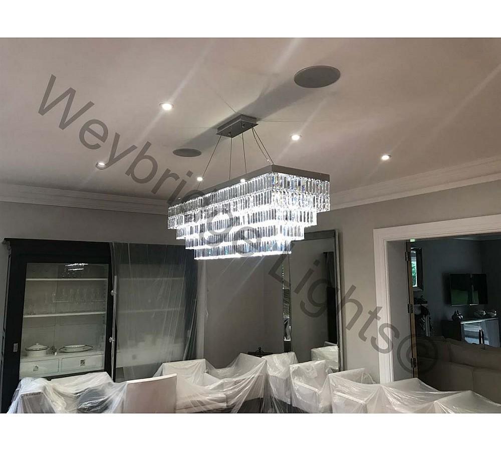 Bespoke Rectangle Crystal Ceiling Pedant - Burwood Park 2017