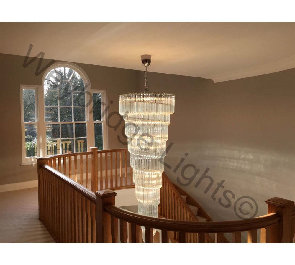Large Murano Glass Prism Stairwell Chandelier - Burwood Park 2018