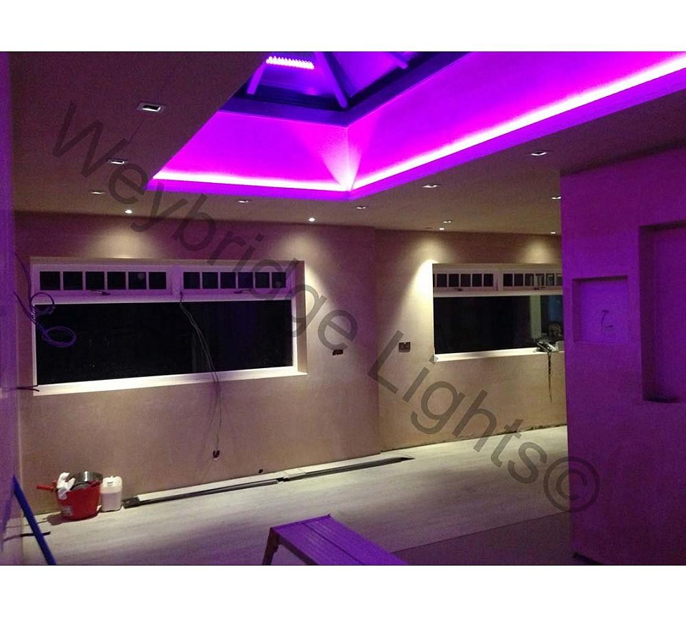 LED RGB tape for roof lantern - Effingham 2014