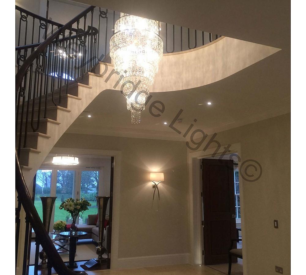 Crystal Stairwell Light for a Developer in Farnham 2014