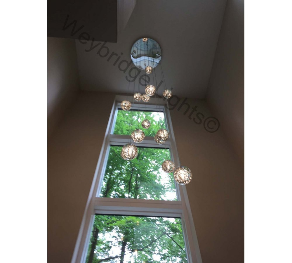 2.5m Random Bubble Long Drop Stairwell Light - Guildford 2016