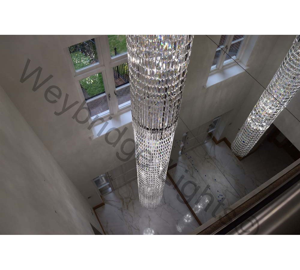 Bespoke 6M Crystal Column -  Private Residence in Kent 2016