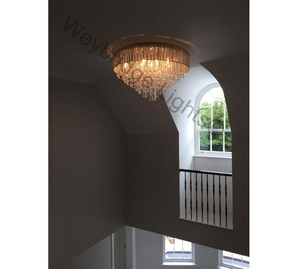 Flush Ceiling Light Installed on Winch - Sunningdale 2016