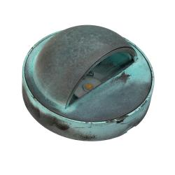 Bronze Round Mini Eyelid Light - Verdigris
