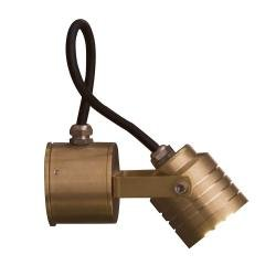 Elite Spotlight Wall Fitting - Solid Natural Brass