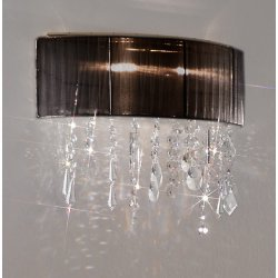 Wall Lamp PARALUME SPECTRA Clear, 24-carat gold, shade black