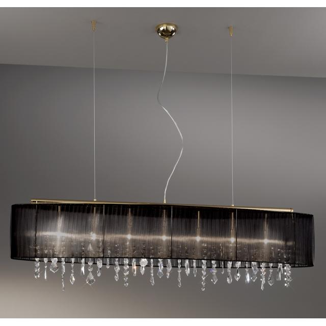Pendant Lamp PARALUME, 140 SPECTRA Clear, 24-carat gold, shade black