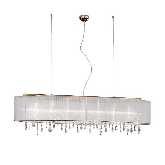 Pendant Lamp PARALUME, 140 OPTIC KOLARC,gold,shade white