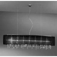 Pendant Lamp PARALUME, 140 SPECTRA Clear, chrome, shade black