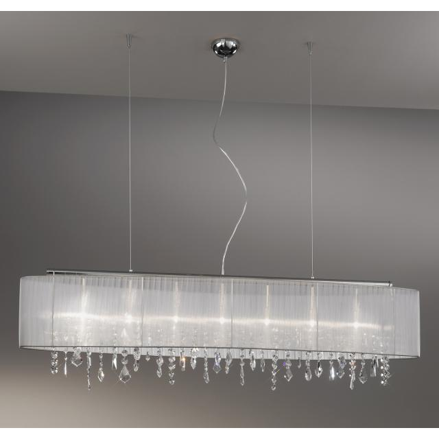 Pendant Lamp PARALUME, 140 SPECTRA Clear, chrome, shade white