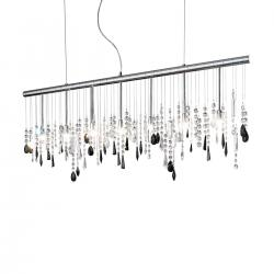 Pendant Lamp STRETTA, 120 Swarovski black, chrome