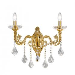 Wall Lamp CONTARINI CRYSTAL Spectra, french gold, (shades optional)