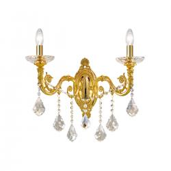 Wall Lamp CONTARINI CRYSTAL Spectra, 24-carat gold, (shades optional)